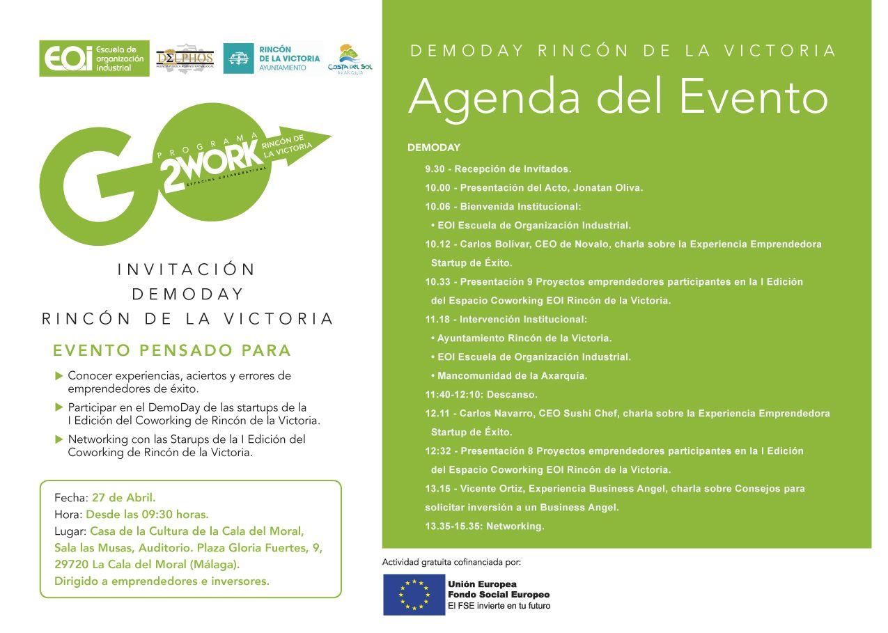 DemoDay de emprendedores en Rincón de la Victoria de la Escuela de Organización Industrial EOI